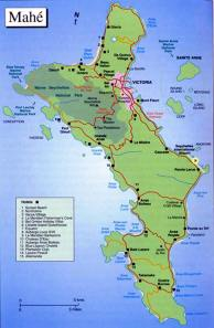 Map of Mahe